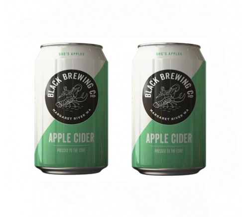 Black Brewing Co Apple Cider, 2 x 375ml