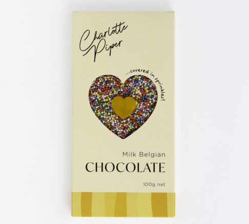 Charlotte Piper Milk Belgian Chocolate with Sprinkles 100g