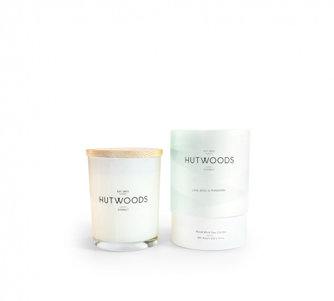 Hutwoods Candle Lime Basil and Mandarin 125g