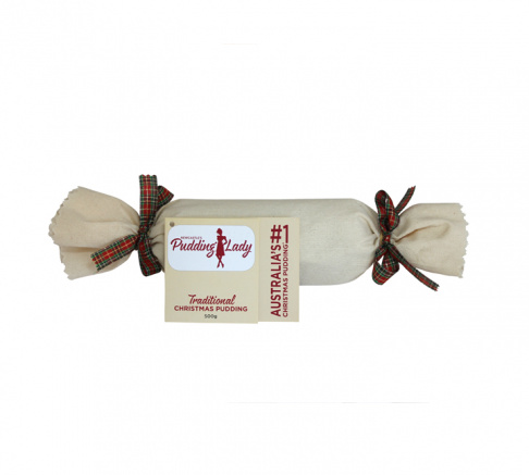 Pudding Lady Traditional Christmas Pudding Log 500g