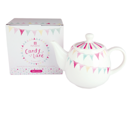 Candy Lane Tea Pot with Infuser - Gift Boxed