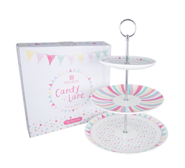 Candy Lane 3 Tier Cake Stand - Gift Boxed