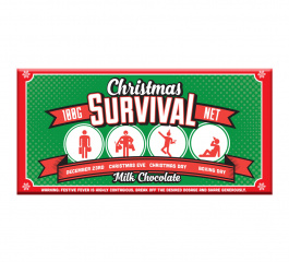 Bloomsberry Christmas Survival Milk Chocolate 100g