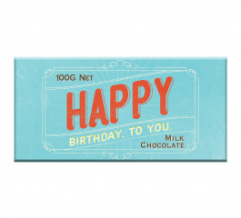 Bloomsberry Happy Birthday To You Milk Chocolate 100g