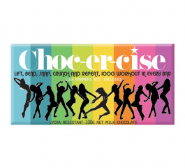 Bloomsberry Choc-er-cise Milk Chocolate 100g