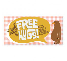 Bloomsberry Free Hugs Milk Chocolate 100g