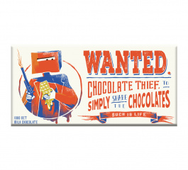 Bellaberry Wanted Chocolate Thief Milk Chocolate 100g