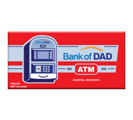 Bloomsberry Bank of Dad Milk Chocolate 100g