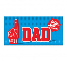 Bloomsberry Number 1 Dad Milk Chocolate 100g