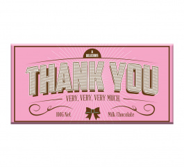 Bloomsberry Pink Thank You Milk Chocolate 100g