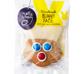 Molly Woppy Bunny Face Choc Dipped Gingerbread 44g