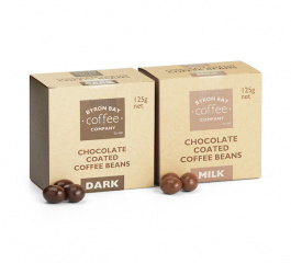 Byron Bay Chocolate Coated Coffee Beans 125g