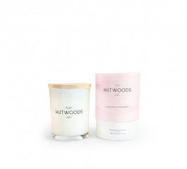 Hutwoods Candle Champagne and Strawberries 125g