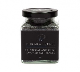 Pukara Estate Charcoal and Olive Smoked Salt 100g