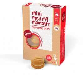 Charlie's Cookies Spiced Brandy Butter Mini Melting Moments 100g