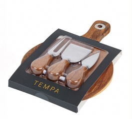 Tempa Round 4pc Cheese Board