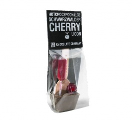 Chocolate Co Cherry Liqueur Milk Chocolate Spoon 50g