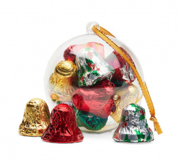 Chocolate Gems Christmas Baubles with Bells 88g