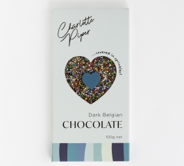 Charlotte Piper Dark Belgian Chocolate with Sprinkles 100g
