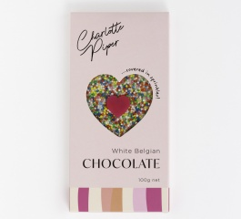 Charlotte Piper White Belgian Chocolate with Sprinkles 100g