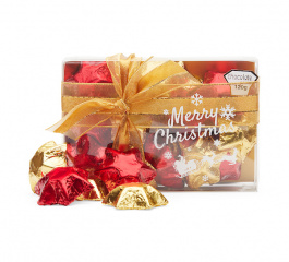 Chocolate Gems Red and Gold Stars 120g