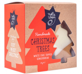 Molly Woppy Choc Christmas Gingerbread Tree Box 145g