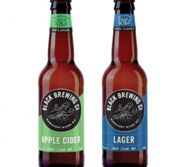 Black Brewing Co 1 x Apple Cider and 1 x Lager 330mls