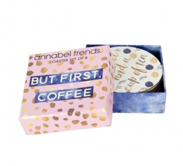 Coasters - Tea and Coffee Quotes Set