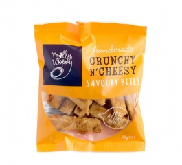 Molly Woppy Crunchy N Cheesy Savoury Bites 30g