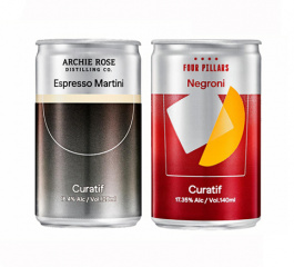 Curatif Espresso Martini 140ml and Negroni 120ml Duo