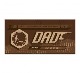 Bellaberry Dad Milk Chocolate 100g