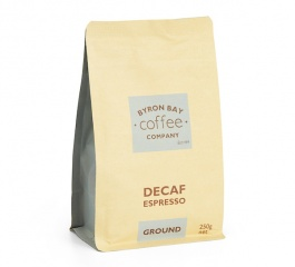 Byron Bay Coffee Decaf Espresso Organic Ground 250g