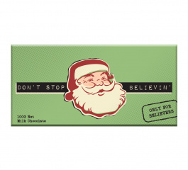 Bellaberry Dont Stop Believin Milk Chocolate 100g