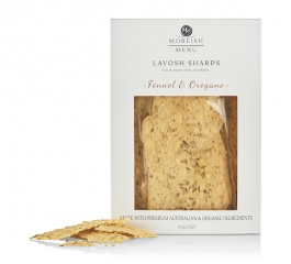 Moreish Menu Fennel and Oregano Lavosh Crackers 100g