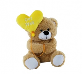 Teddy Bear Get Well Balloon 25cm