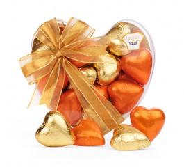 Chocolate Gems Gift of Hearts Autumn Gold and Orange 140g