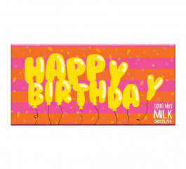 Bellaberry Happy Birthday Balloons Milk Chocolate 100g