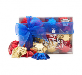 Chocolate Gems Happy Birthday Stars 120g