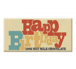 Bellaberry Happy Birthday Milk Chocolate 100g