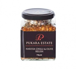 Pukara Estate Harissa Chilli and Olive Relish 170g