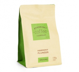 Byron Bay Coffee Harmony Plunger Ground 100g