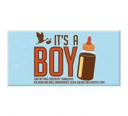 Bellaberry It's A Boy Milk Chocolate 100g