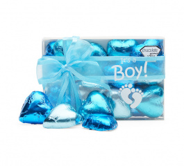 Chocolate Gems It's A Boy Choc Hearts 120g