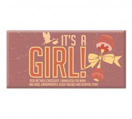 Bellaberry It's A Girl Milk Chocolate 100g