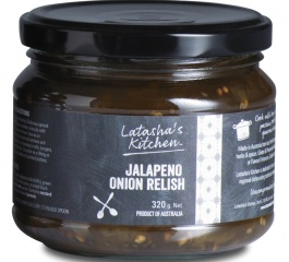 Latasha's Kitchen Jalapeno Onion Relish 320g