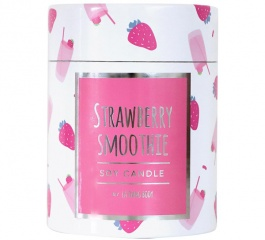 La Bang Woodwick Candle Strawberry Smoothie