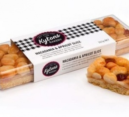 Kytons Bakery Macadamia and Apricot Slice 165g
