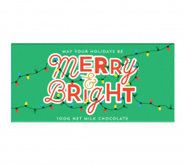 Bellaberry Merry and Bright Christmas Milk Chocolate 100g