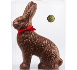 Whistlers Traditional Sitting Chocolate Bunny 400g w/3 Foiled Eggs