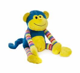 Milo Monkey - Bright Striped Blue 38cm